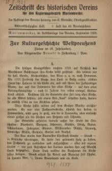 Zeitschrift des historischen Vereins für den Regierungsbezirk Marienwerder, H. 58