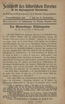 Zeitschrift des historischen Vereins für den Regierungsbezirk Marienwerder, H. 59