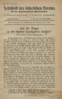 Zeitschrift des historischen Vereins für den Regierungsbezirk Marienwerder, H. 60