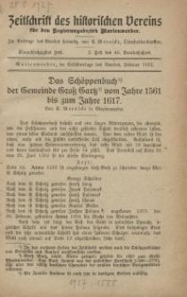 Zeitschrift des historischen Vereins für den Regierungsbezirk Marienwerder, H. 61