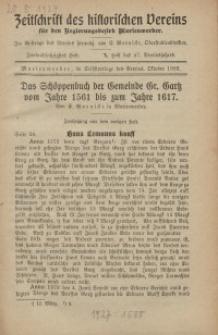 Zeitschrift des historischen Vereins für den Regierungsbezirk Marienwerder, H. 62