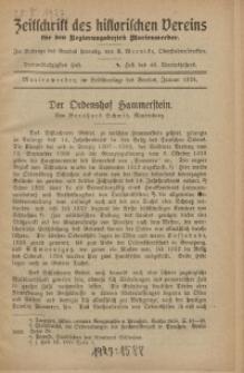 Zeitschrift des historischen Vereins für den Regierungsbezirk Marienwerder, H. 63
