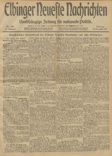 Elbinger Neueste Nachrichten, Nr. 281 Freitag 22 November 1912 64. Jahrgang