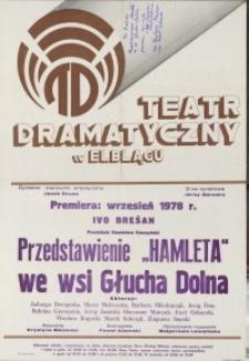"""Przedstawienie """"Hamleta"""" we wsi Głucha Dolna – afisz"""