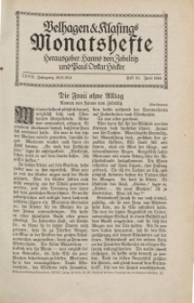 Velhagen & Klasings Monatshefte. Juni 1914, Jg. XXVIII. Heft 10.