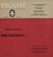 Bolszewicy – program teatralny