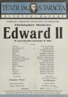 Edward II – afisz
