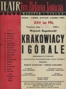 Krakowiacy i górale - afisz