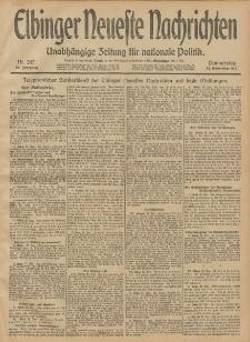 Elbinger Neueste Nachrichten, Nr. 287 Donnerstag 28 November 1912 64. Jahrgang