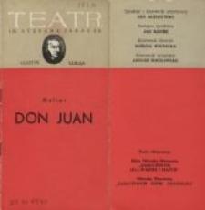 Don Juan – program teatralny