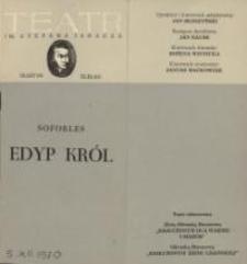 Król Edyp – program teatralny