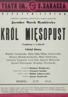 Król Mięsopust – afisz