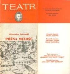Późna miłość – program teatralny