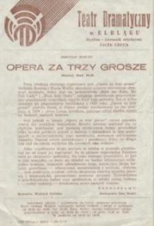 Opera za trzy grosze – ulotka