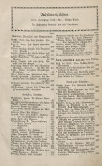 Velhagen & Klasings Monatshefte. Jg. XXV. Bd. III.: Inhaltsverzeichnis