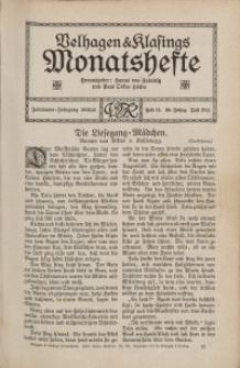 Velhagen & Klasings Monatshefte. Juli 1911, Jg. XXV. Heft 11.