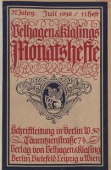 Velhagen & Klasings Monatshefte. Juli 1918, Jg. XXXII. Heft 11.