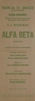 Alfa Beta – afisz