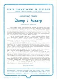 Damy i huzary – ulotka