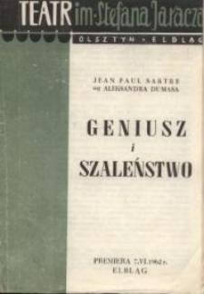 Geniusz i szaleństwo - program teatralny