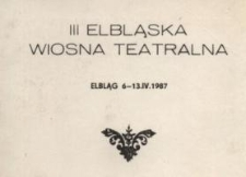 III Elbląska Wiosna Teatralna – karnet wstępu
