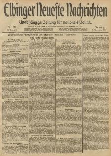 Elbinger Neueste Nachrichten, Nr. 299 Dienstag 10 Dezember 1912 64. Jahrgang