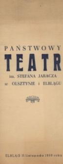 20-lecie sceny Teatru im. Stefana Jaracza w Elblągu – zaproszenie