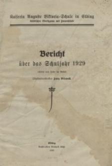 Kaiserin Auguste Viktoria-Schule zu Elbing: Bericht: 1929