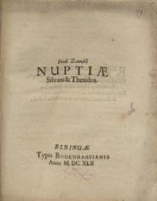Nuptiae Silvani et Thedidos