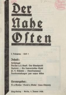 Der Nahe Osten, 1. Januar 1928, 1. Jahrgang, H. 1