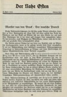 Der Nahe Osten, 15. April 1928, 1. Jahrgang, H. 8