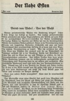 Der Nahe Osten, 1. Mai 1928, 1. Jahrgang, H. 9