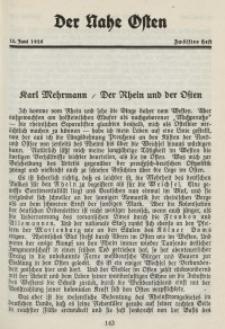Der Nahe Osten, 15. Juni 1928, 1. Jahrgang, H. 12