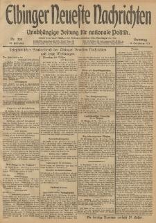 Elbinger Neueste Nachrichten, Nr. 304 Sonntag 15 Dezember 1912 64. Jahrgang