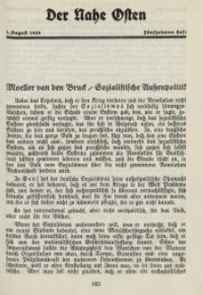 Der Nahe Osten, 1. August 1928, 1. Jahrgang, H. 15