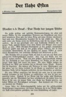 Der Nahe Osten, 1. Oktober 1928, 1. Jahrgang, H. 19