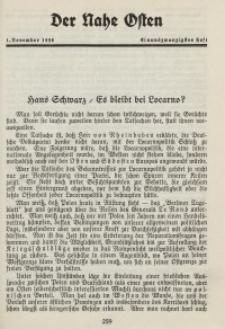 Der Nahe Osten, 1. November 1928, 1. Jahrgang, H. 21