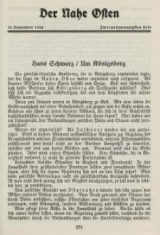 Der Nahe Osten, 15. November 1928, 1. Jahrgang, H. 22