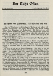 Der Nahe Osten, 1. Dezember 1928, 1. Jahrgang, H. 23