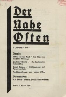 Der Nahe Osten, 1. Januar 1929, 2. Jahrgang, H. 1