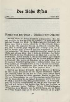 Der Nahe Osten, 1. März 1929, 2. Jahrgang, H. 5