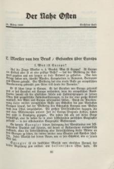 Der Nahe Osten, 15. März 1929, 2. Jahrgang, H. 6