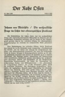 Der Nahe Osten, 15. April 1929, 2. Jahrgang, H. 8