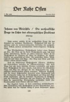 Der Nahe Osten, 1. Mai 1929, 2. Jahrgang, H. 9