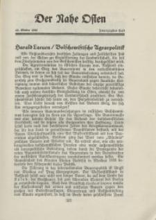 Der Nahe Osten, 15. Oktober 1929, 2. Jahrgang, H. 20