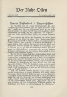 Der Nahe Osten, 1. Dezember 1929, 2. Jahrgang, H. 23