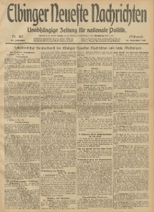 Elbinger Neueste Nachrichten, Nr. 307 Mittwoch 18 Dezember 1912 64. Jahrgang
