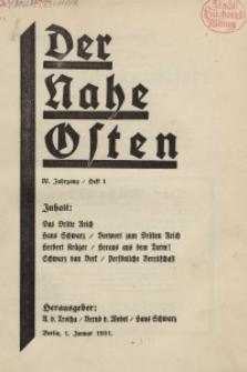 Der Nahe Osten, 1. Januar 1931, 4. Jahrgang, H. 1