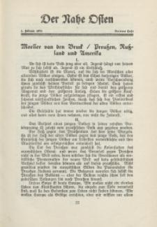 Der Nahe Osten, 1. Februar 1931, 4. Jahrgang, H. 3