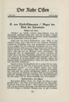 Der Nahe Osten, 1. Mai 1931, 4. Jahrgang, H. 10